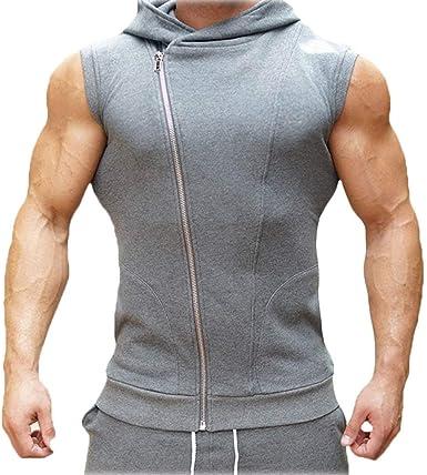 W Glamour Camiseta Sin Mangas para Hombre con Camiseta con ...