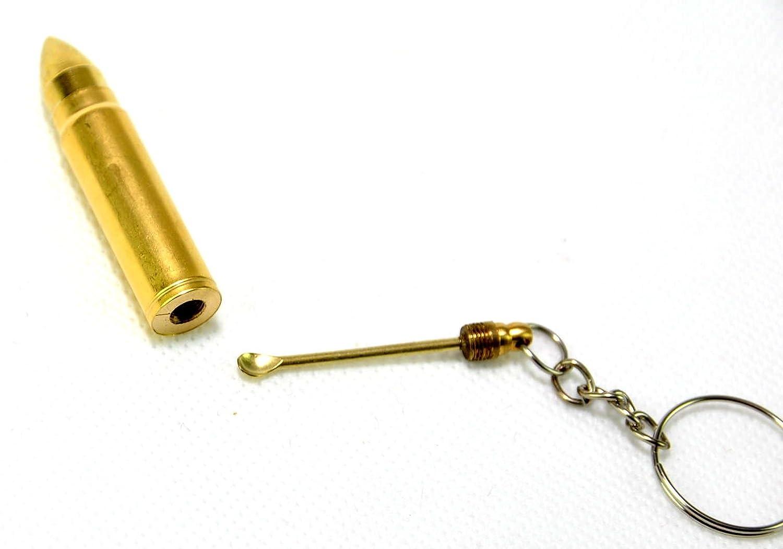 L/öffel Metall Schl/üsselanh/änger Anh/änger by schenkfix 12 St/ück PATRONE 5 CM mit Geheimfach