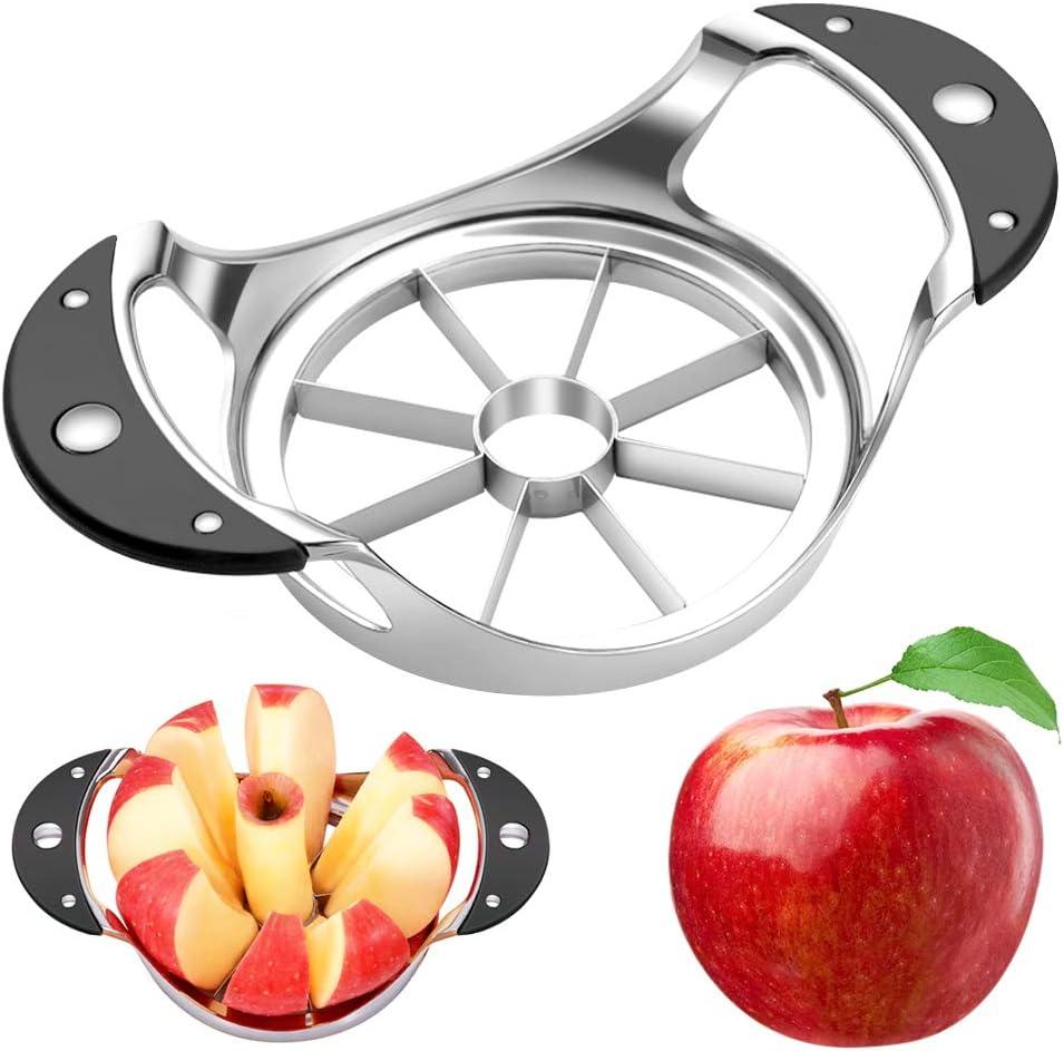 YEVIOR Apple Slicer, Corer and Divider, 8-Blade Stainless Steel Apple Slicer and Corer Heavy Duty, Anti-Slip Handle Fruit Slicer Cutter, Sturdy and Sharp