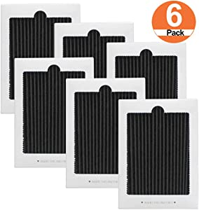Refrigerator Air Filter Replacement 6 Pack - Carbon Activated Filter Compatible with Frigidaire Pure Air Ultra Reduce Odors for EAFCBF, PAULTRA, SCPUREAIR2PK, RAF1150 242061001,242047801, 242047804