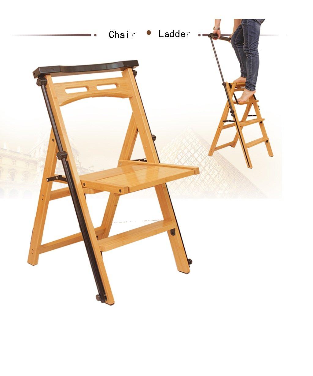ZEMIN ステップスツール チェア 背もたれ折り畳み木製の椅子ヘリンボーンはしご伸縮性のある動く階段、Burlywood、43 * 60 * 85CM (サイズ さいず : 43*60*85CM) B0791B5YBV  43*60*85CM
