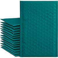 Fuxury #000 4x8 Inch Forest green Bubble Mailer Self Seal Padded Envelopes Pack of 50