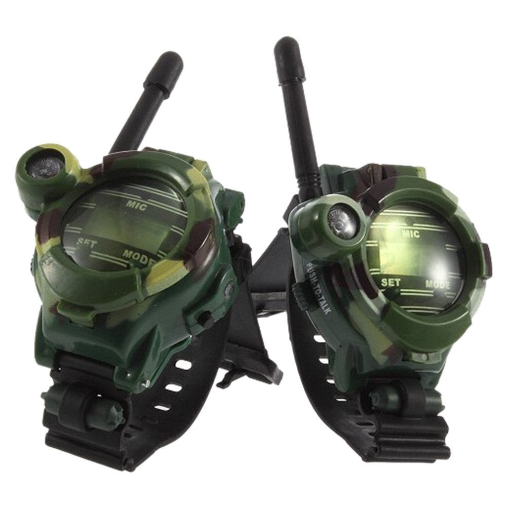 Walkie Talkie ,H-COME 1 Pair Battery Powered Children Toys Walkie Talkie Χld Watches Interphone, range up to 500ft in open area.(Battery Included) (1 Pair)