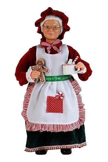 amazon com 16 inch standing mrs santa claus christmas figurine