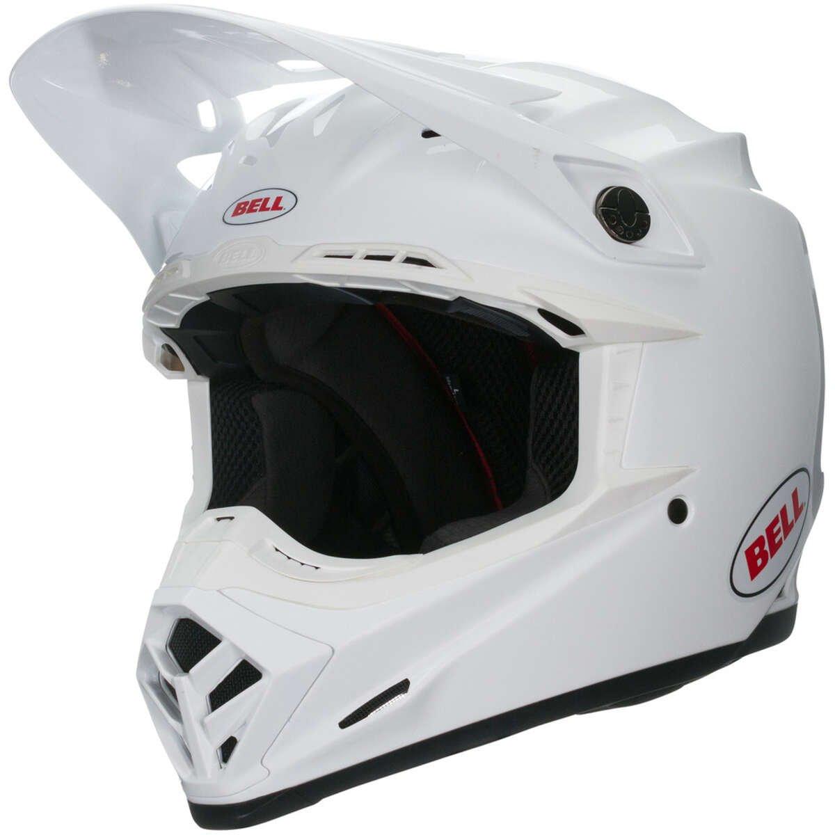Solid White Taglia S Bell 7091820 Casco per Moto