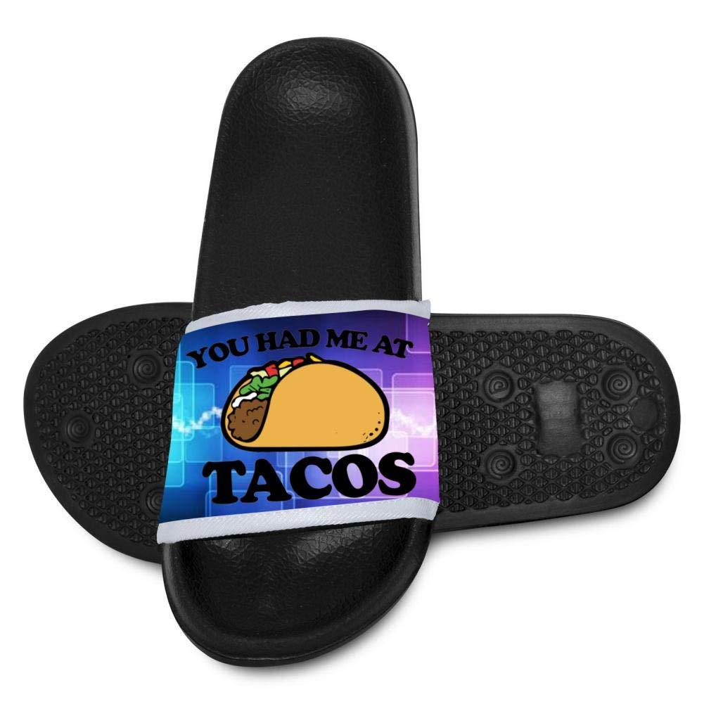 Kids Non-Slip You Better Have Tacos Slippers Summer Beach Sandals for Boys Girls