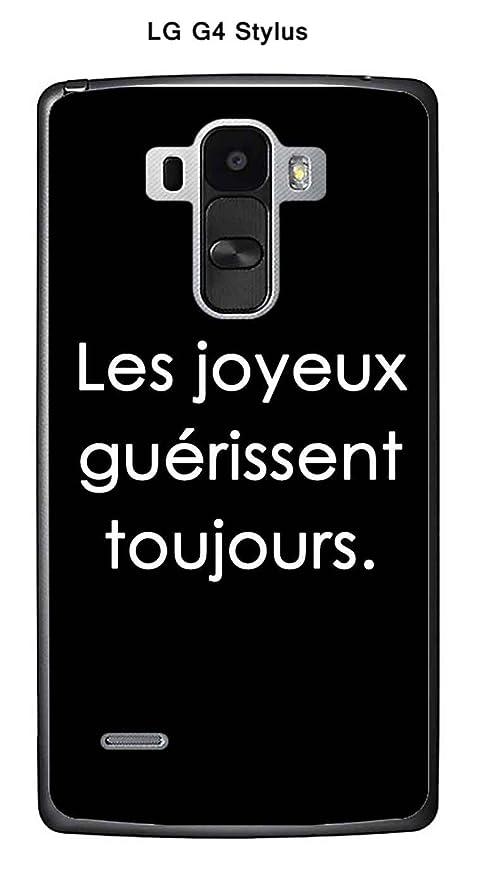 Onozo Carcasa LG G4 Stylus Design citaciónLes feliz texto ...