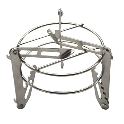 kebyy Outdoor Portable Camping Stove Stand Stainless Steel Alcohol Stove Rack Outdoor Supplies: Sports & Outdoors