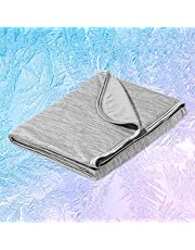 """Marchpower Cooling Blanket ,Latest Arc-Chill Cool-to-Touch Technology Cotton Cool Blanket,Lightweight Cold Blankets for Hot Sleeper Summer Night Sweats Cozy and Soft Bed Blanket Q-MAX>0.43 (Gray, Small, 67"""" x 51"""")"""