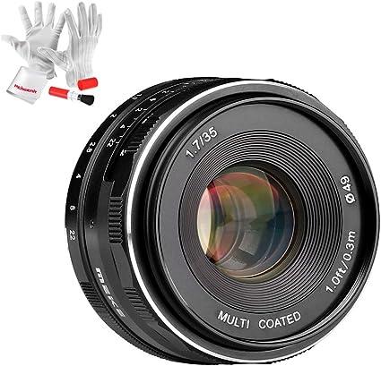 Meike 35mm F 1 7 Aps C Große Blende Manueller Fokus Kamera