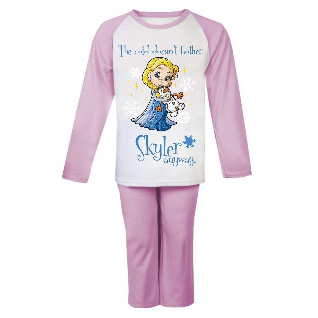 Personalised Initials Children/'s Pyjamas Kids Custom PJs Sleepwear Boys Girls