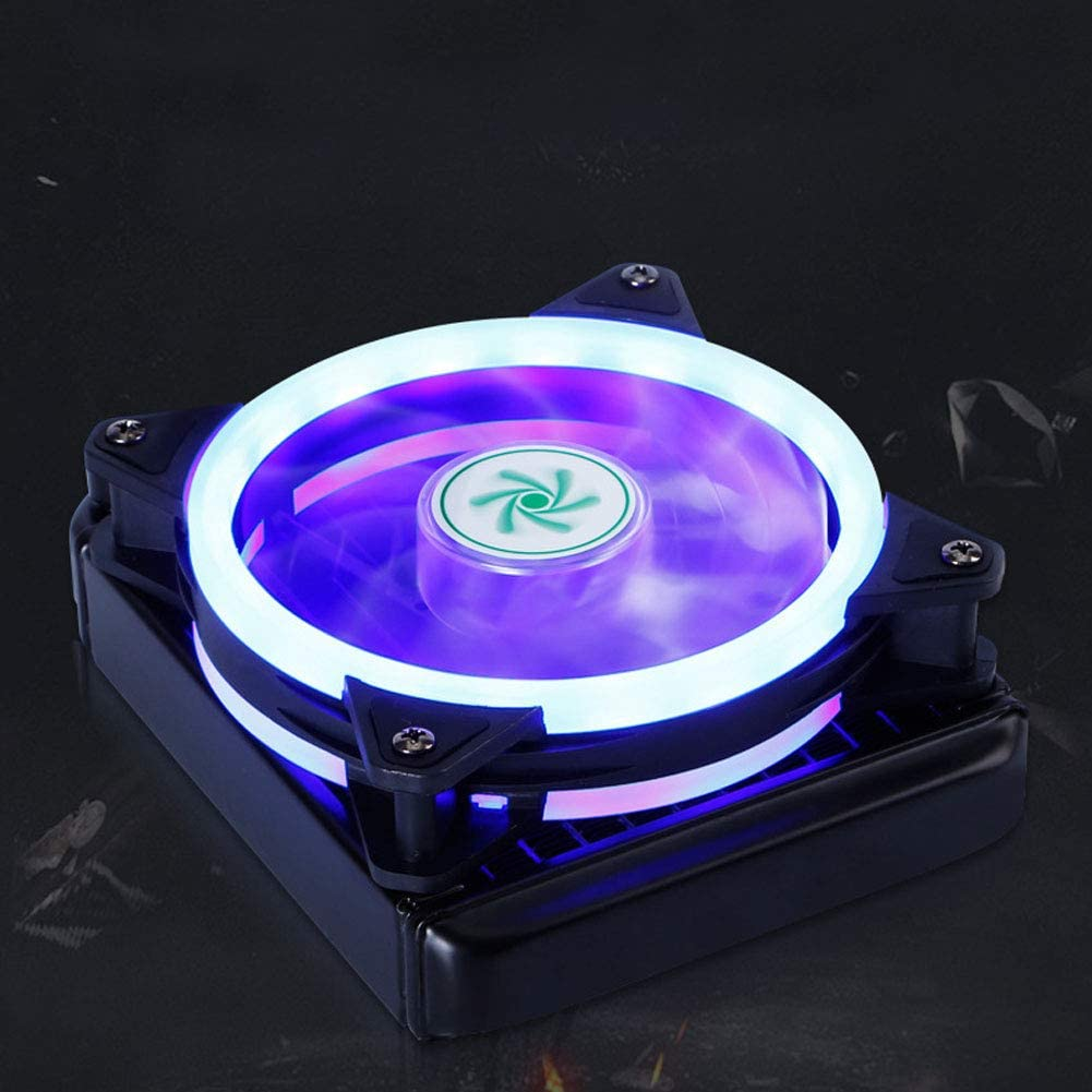 Ultra-Thin Desktop PC Computer Colorful Light Water Cooling CPU Cooler Radiator for Household Computer