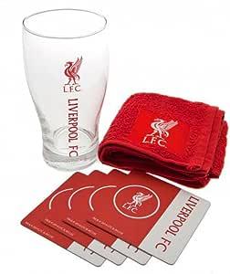 Liverpool FC Pint Glass Mini Bar Set