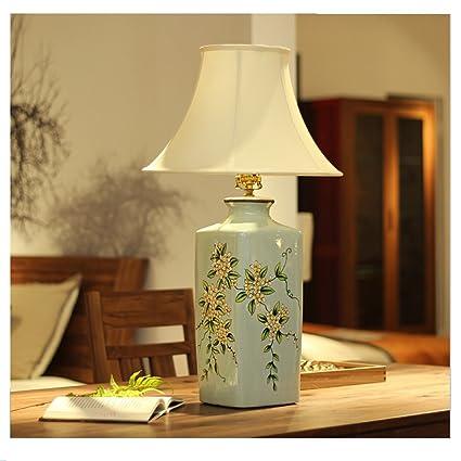 HAGDS Lámpara de mesa de cerámica Estilo chino Osmanthus ...