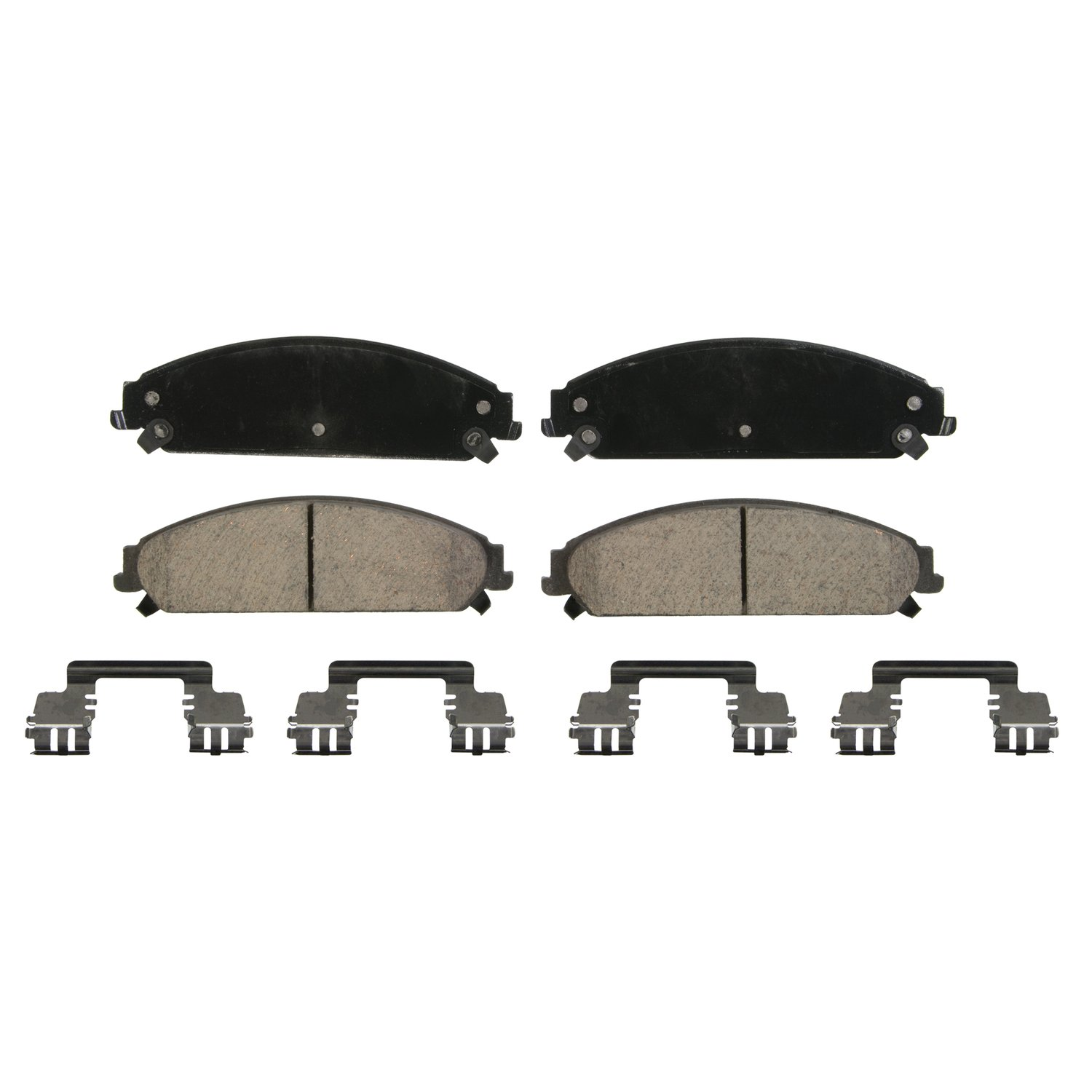 Front Wagner Brake Wagner QuickStop ZD1058 Ceramic Disc Pad Set Includes Pad Installation Hardware
