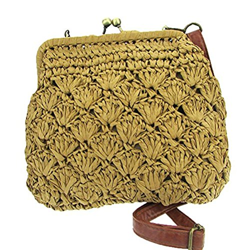 Abuyall Shell bandouli¨¨re Mini sac sac Hasp Sac Pt3 Lady paille de plage ¨¤ ¨¦vider en d¨¦contract¨¦ r6rwTP