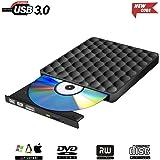 Portable External CD DVD Drive USB 3.0 CD DVD Burner Writer Reader Player for Macbook Laptop/Desktops Win 7/8.1/10 and Linux OS