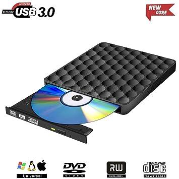Toppen Externes CD DVD Laufwerk USB 3.0,Tragbar Extern Brenner DVD-RW Row NB-12
