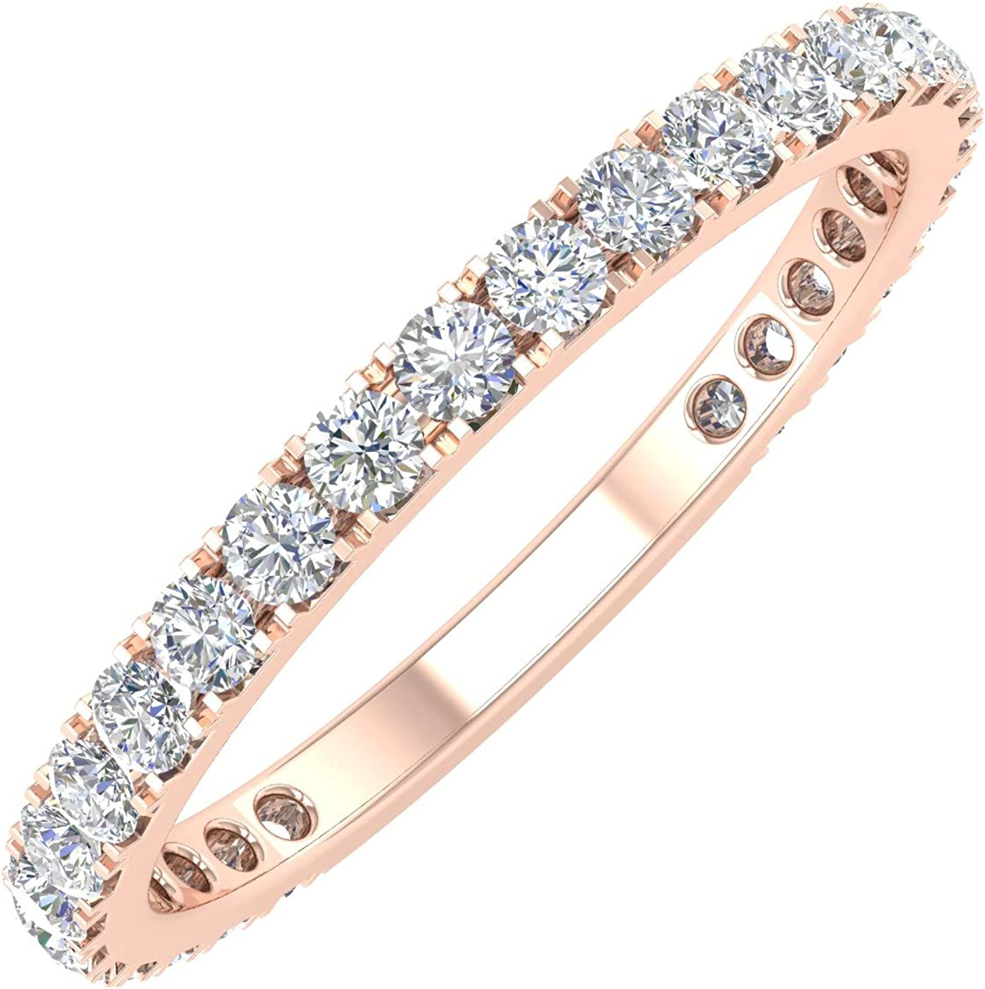 This is a graphic of 388/388 Carat Diamond 38/38 Eternity Wedding Band Ring in 38838K Gold
