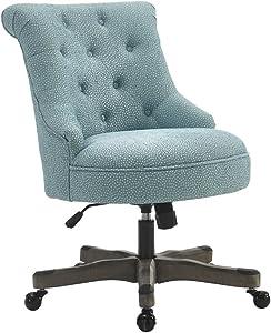 Linon Amzn0240 Talia Light Blue Office Chair, Gray