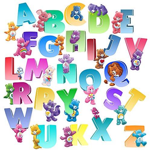 (Care Bears Large Rainbow Alphabet Wall Decal Set)