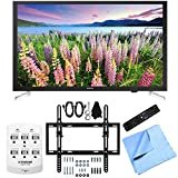 Samsung UN32J5205 - 32-Inch Full HD 1080p Smart LED HDTV Flat/Tilt Wall Mount Bundle includes UN32J5205 - 32-Inch 1080p Smart LED HDTV, Flat & Tilt Wall Mount Kit, 6 Outlet Wall Tap w/ 2 USB Ports and Microfiber Cloth