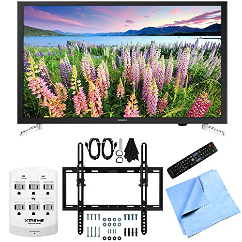 Samsung-UN32J5205-32-Inch-Full-HD-1080p-Smart-LED-HDTV-FlatTilt-Wall-Mount-Bundle-includes-32-Smart-LED-HDTV-Flat-Tilt-Wall-Mount-Kit-6-Outlet-Wall-Tap-w-2-USB-Ports-and-Microfiber-Cloth