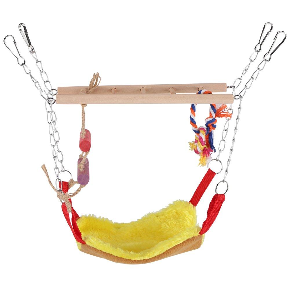 Juguete de Aves Loro Escalada Juguete Escalera de Oscilación Colorida con Accesorios de Cama Puentes Colgantes para Mascotas(Azul) Fdit