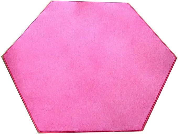 Hexagonal pour Tapis Rose Super Doux Home Tapis Tapis de Sol pour Enfants Tente Tapis Maison pour Enfants Pad Coussin 140 x 140 cm