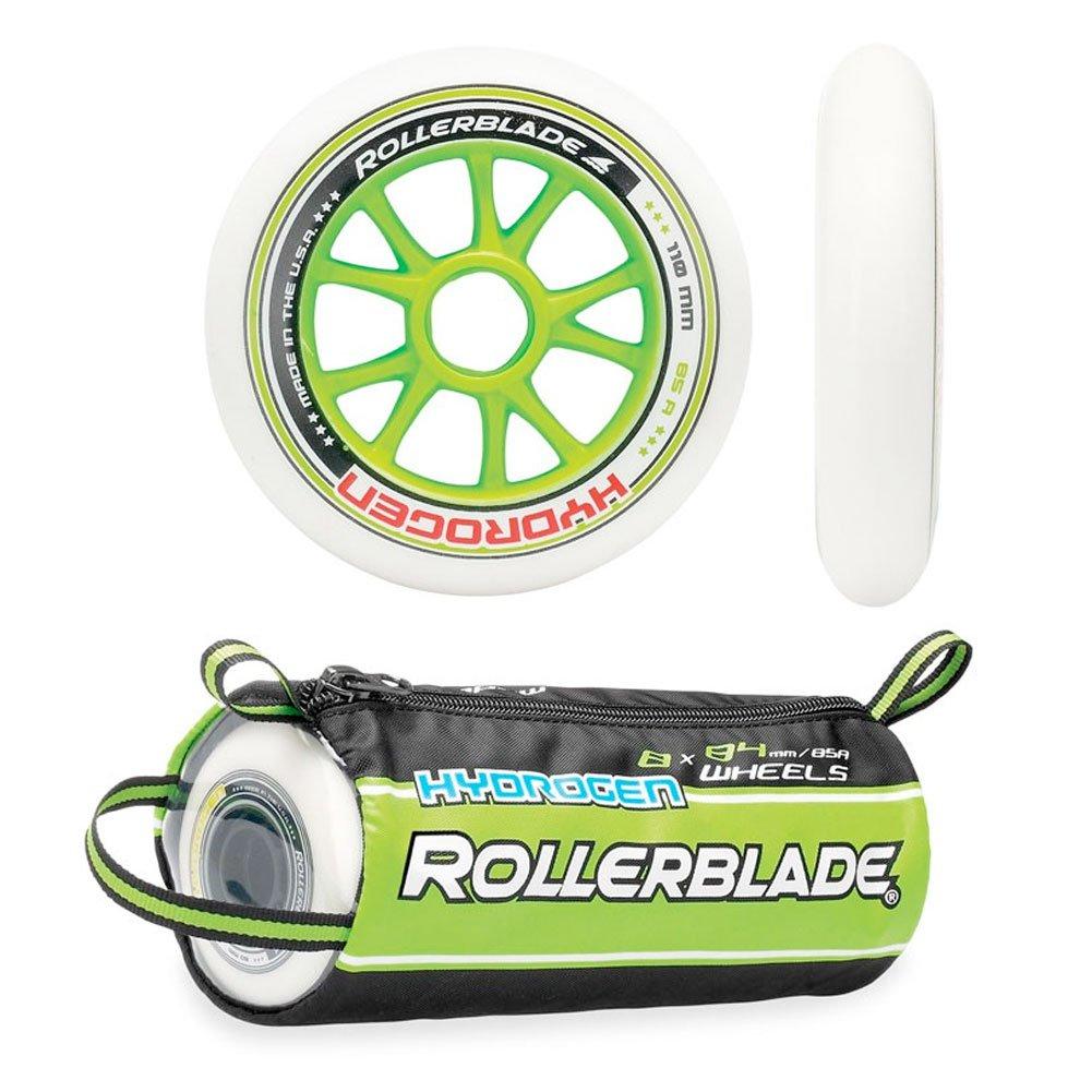 Rollerblade Hydrogen Premium Skate Wheels (Pack of 8), White, 110mm