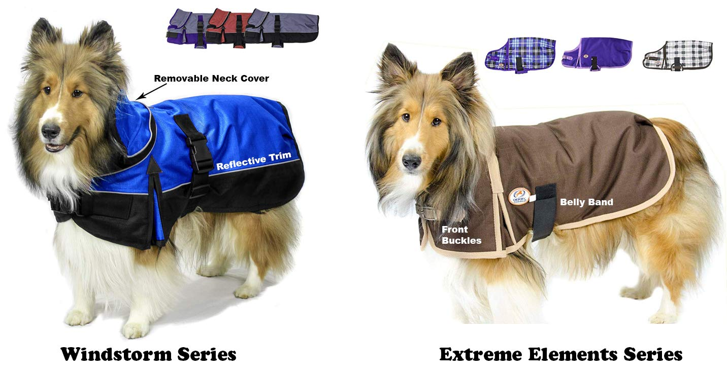 Derby Originals Horse Tough 1200D Waterproof Winter Dog Coat with 2 Year Warranty - Designed with Heavy Duty Ripstop Nylon & No Rub Breathable Inner Lining Insulated - Multiple Styles & Sizes by Derby Originals