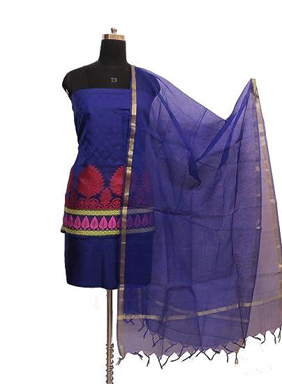 02005a0eee Gleamberry Women's Banarasi Handloom Kora Silk Dress Material  Set_OBAPDM10150004: Amazon.in: Clothing & Accessories