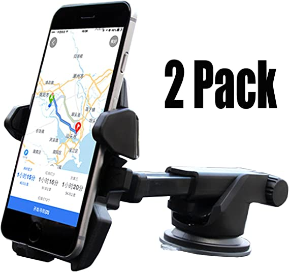 Car Phone Mount Adjustable Long Arm Cell Phone Car Mount Compatible iPhone X 8 7 6 6S Se 5S Samsung Galaxy S9 S8 S7 S6 S5 HTC LG Sony Nexus Motorola Nokia More Dashboard Car Phone Holder