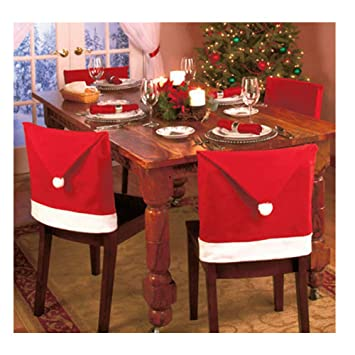 Magnificent Bulzeu Chair Covers Christmas Decorations Sale Santa Claus Red Hat Chair Back Cover Christmas Dinner Table Party Decor Xmas Party Decoration Set Squirreltailoven Fun Painted Chair Ideas Images Squirreltailovenorg
