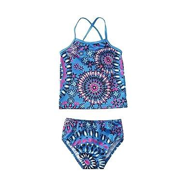 Traje de Baño Tankinis 2Pcs Niñas Bikinis de Sirena Disfraz de ...