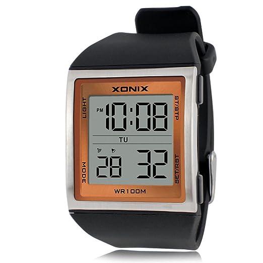 Reloj de Hombre con números Grandes, multifunción, LED, Resistente al Agua, Movimiento al Aire Libre, Reloj electrónico: Amazon.es: Relojes