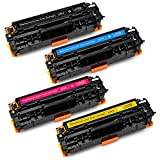 Office World Compatible Toner Cartridge Replacement for HP 304A CC530A (1 Black, 1 Cyan, 1 Magenta, 1 Yellow), Compatible with HP Color LaserJet CP2025 CM2320