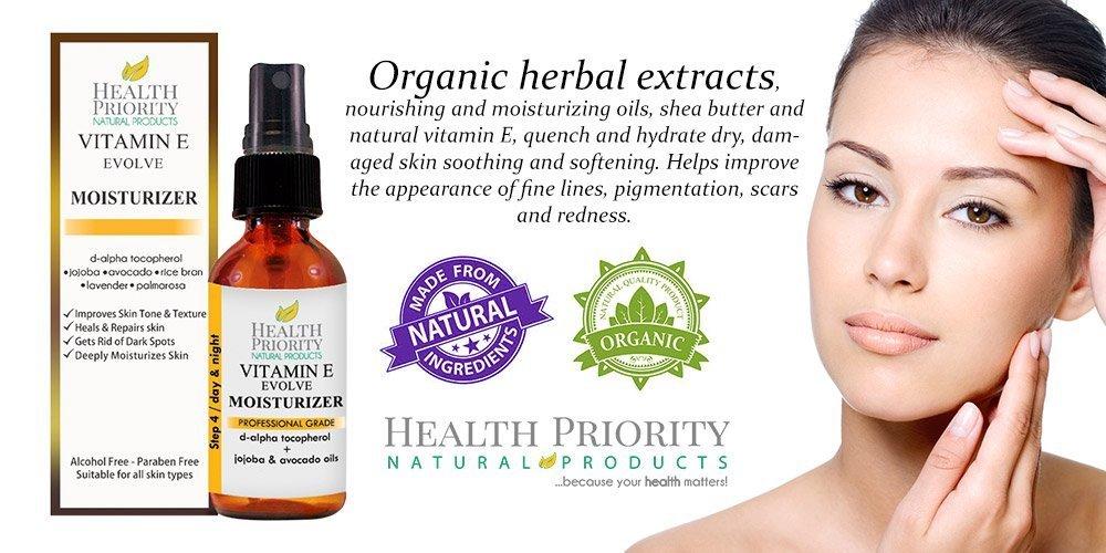 Crema facial hidratante con vitamina E natural. Utilizar después de lavarse la cara para nutrir las zonas sensibles, para la curación y para el acné.