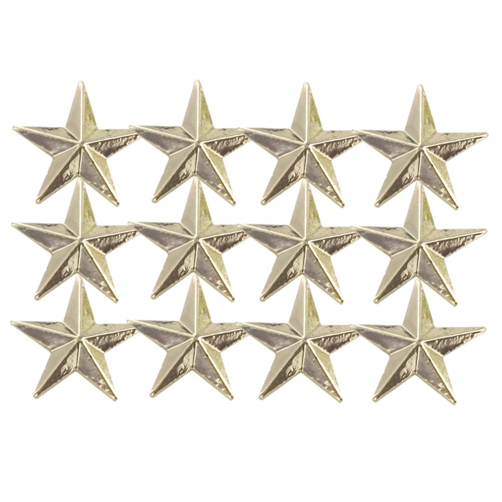 1/2 Inch Gold Star Lapel Pin - Package of 12, Poly Bagged by Awards and Gifts R Us