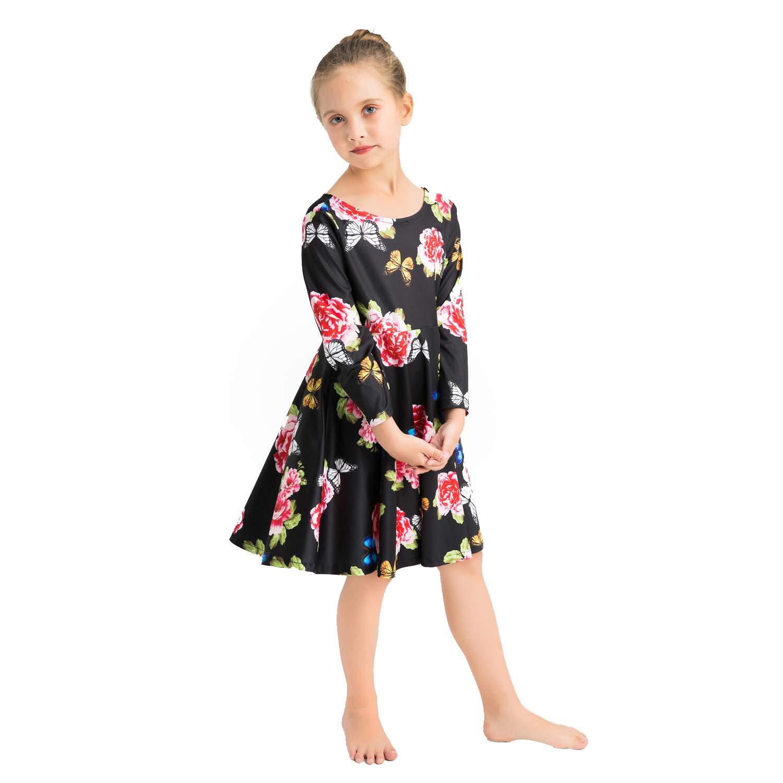 1953a5026 Amazon.com  Girls Long Sleeve Print Dress