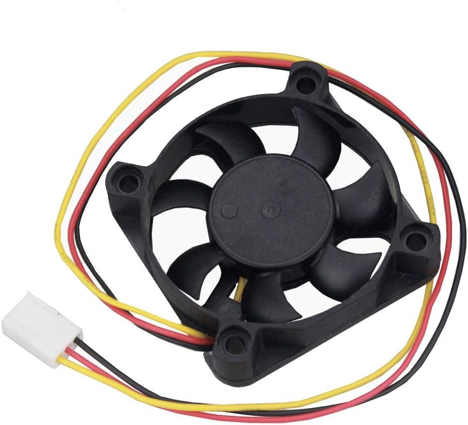 GDSTIME 12V 3PIN 50mm Fan, 50mm x 50mm x 10mm 2inch DC Brushless Cooling Fan