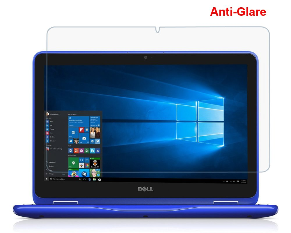 (2PCS Pack) Dell 3168 3169 3179 11.6'' Anti Glare Matte Whole Screen Protector Cover Skin for New Dell Inspiron 11 3000 3168 3169 3179 i3168 i3169 i3179 2-in-1 11.6'' Touch-Screen Laptop