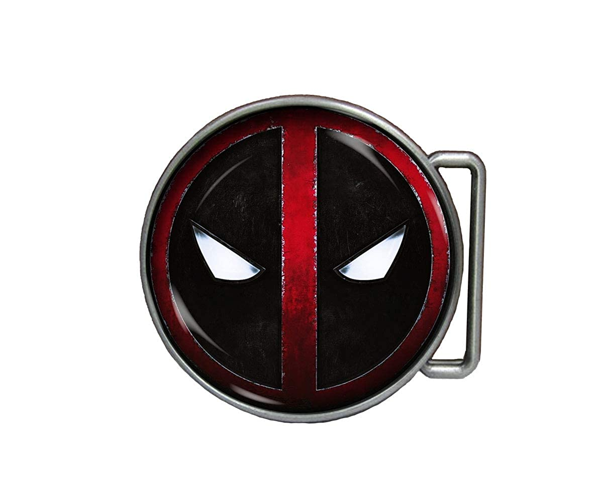 Chaoticfashion Deadpool Belt Buckle MERC with A Mouth Handmade Jewelry Gift