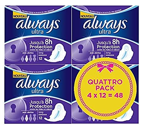 Always toallas sanitarias con Wings Over largo X Quattro 48: Amazon.es: Belleza