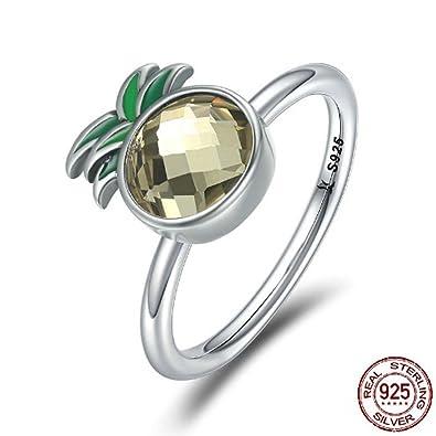 Amazon.com: Anillo TFR de plata de ley 925, anillo de piña ...