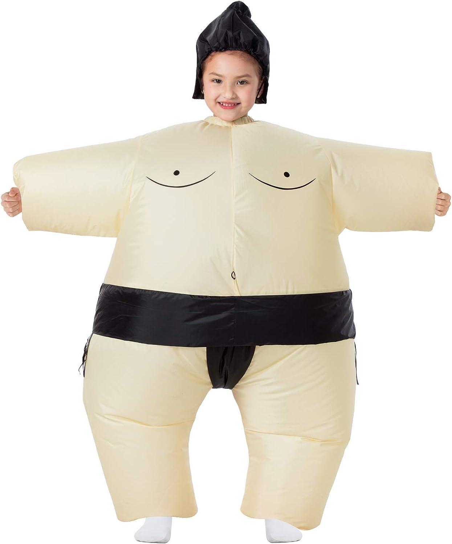 YEAHBEER Inflatable Costume Sumo Blow Up Costume Halloween Cosplay Costumes (Kids Sumo)
