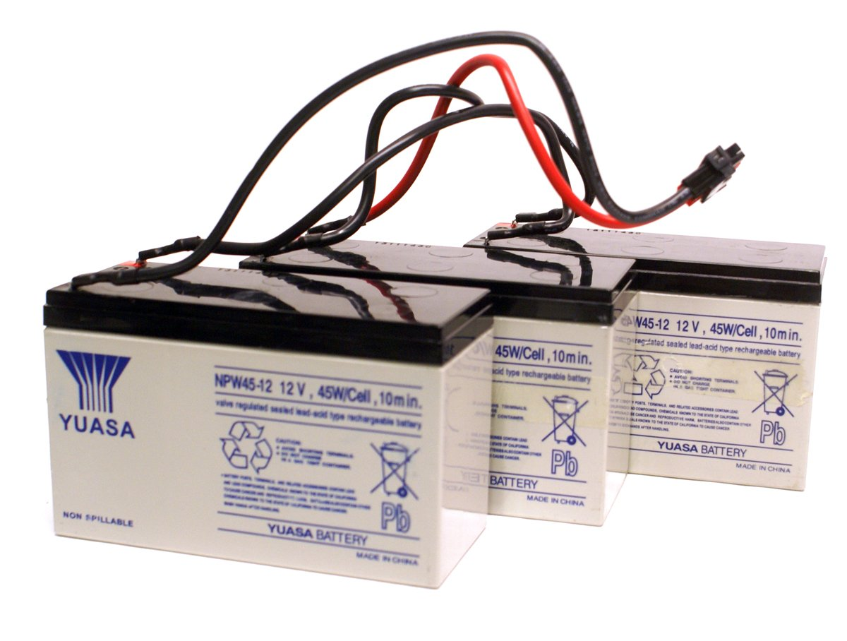 3 Lot Bulk Pack Yuasa Npw45 12 12v 45w Cell 9ah Lead Acid Valve 1000w Dell Power Supply Wiring Diagram Replacement Battery For H914n R464r Tower Ups Uninterrupted