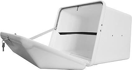 Portaequipajes Moto baúl Reparto Blanco con Bandeja y Reflectantes homologados, Cierre Cerradura: Amazon.es: Coche y moto
