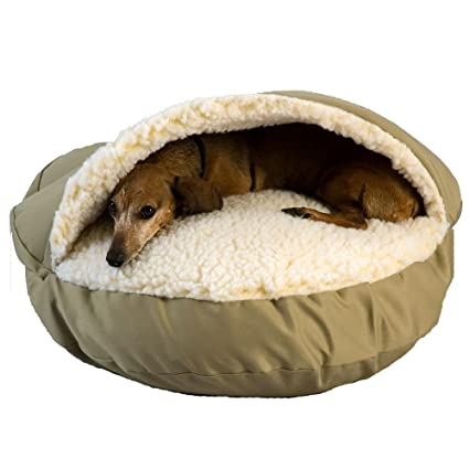 Amazon Com Snoozer Cozy Cave Khaki Small Pet Beds Pet Supplies