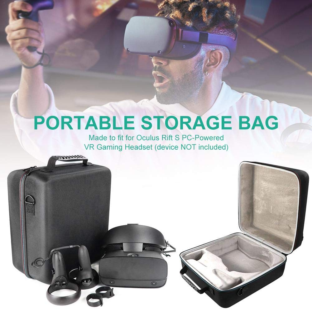 Younar Portable Hard Carrying Case for Oculus Rift S PC-Powered VR Gaming Headset Controller Accessories Protective Bag